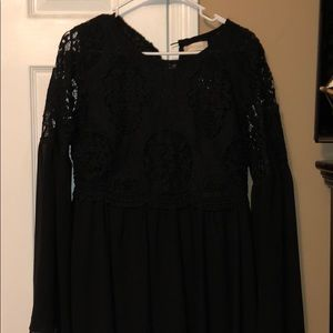 NWT Altar'd State Black lace dress size L
